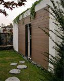 El panel de pared exterior de madera decorativo del compuesto WPC