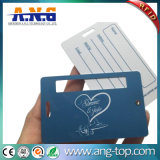 Doppelte Ntag213 Gepäck-Marke Belüftung-RFID mit transparentem Seil