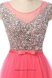Кристаллический длинние платья вечера выравнивая мантию