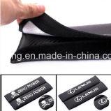 Le carbone de ceinture de sécurité de logo de véhicule de Lincoln couvre des garnitures d'épaule