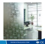 el ácido de 4-12m m grabó al agua fuerte el vidrio constructivo modelado/calculado para la decoración
