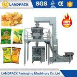 Microplaquetas de batata e máquina de empacotamento de peso automáticas da pipoca