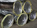Conducto flexible acústico del papel de aluminio de la fibra de vidrio de la alta calidad