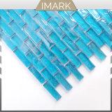 Mosaico di vetro blu del pavone di alta qualità per le mattonelle di pavimento della stanza da bagno