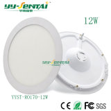円形中国の工場超細い12Wか屋内軽く高い内腔のための正方形の薄いLEDの照明灯