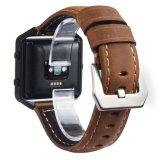 A banda de couro de qualidade para Fitbit, banda de couro genuíno de moda unissexo para Fitbit Blaze