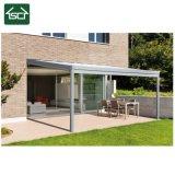 La lluvia al aire libre protege la cubierta del patio del abrigo de Sun del toldo del pabellón de la ventana de la puerta