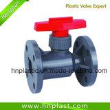Válvula de Esfera de PVC por soldagem de soquete para fins industriais Pn10 (ANSI JIS DIN)