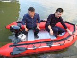 Шлюпка алюминия рыбацкой лодки шлюпки высокого качества фабрики дешевая раздувная