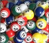 Bola multi 38m m del bingo del ping-pong del color para la máquina del Keno del bingo del casino y la máquina del equipo del acontecimiento