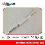 Fábrica de China 75 Ohmios cable coaxial RG11 con Messenger