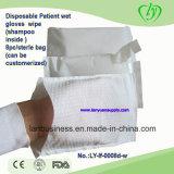Pacientes descartáveis molharam Wipes (com champô)