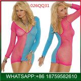 Последнюю версию мода дамы Sexy белье Fishnet кружева длинными рукавами