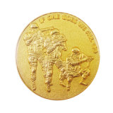 Comercio al por mayor baratos personalizados en 3D reto militar monedas