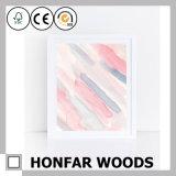 Het roze Schilderen van de Kunst van de Decoratie van het Af:drukken van de Inkt met Houten Frame