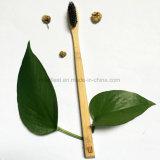 Toothbrush de bambu verde natural ecológico original da fibra para o hotel de Hhomestay