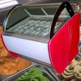 Gelato 단단한 아이스크림 전시 냉장고