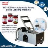 Frascos redondos semiautomático rotulando Máquina para frasco de Medicina (MT-50)