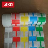 Étiquette auto-adhésive de collants personnalisée par forme colorée de rectangle