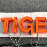 Del fabricante profesional del canal mini LED cartas delanteras iluminadas por encargo del Lit de la muestra 3D