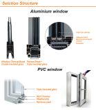 Grande portello di alluminio scorrevole di vetro due con il hardware di marca