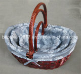 El mimbre cesta de regalo para Navidad