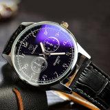 QUARZ-Armbanduhr-Paar-Uhr der Form-H311 Unisexmit ledernem Band