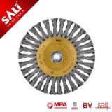 De haute qualité en acier trempé à points noués 115mm Brosse métallique circulaire torsadée