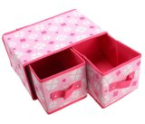 짠것이 아닌 직물은 다기능 Foldable 내복 저장 상자를 덮었다