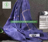 Nova Roupa&algodão europeus Látice Xale Tie-Dyed Fashion Lady lenço de Lazer