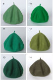 Dame-Wollen der Frauen wärmen Angora-Winter-Herbst-Sprung-Schutzkappen-Hut-Barett (HW806)