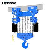 Élévateur à chaînes électrique à deux vitesses de Liftking 20t avec la suspension de crochet