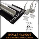 天井は取付けられたアルミニウムLED線形照明設備最大3mの長さを引込めた