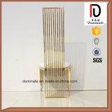 De cuir blanc d'or de bâti présidence à extrémité élevé d'acier inoxydable de dos haut
