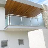 Baranda de vidrio templado de seguridad de los rieles balcón