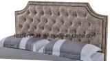 Bâti classique nordique de cuir de chambre à coucher avec le bouton