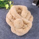 Sciarpa lavorata a maglia merletto della signora Fashion Polyester Faux Fur