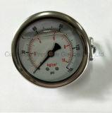60mm met Manometer van Corrsion van de Steun de Bestand Vloeistof Gevulde