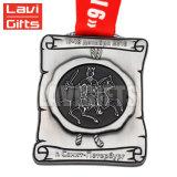 Medaglia su ordinazione della moneta del metallo dell'oggetto d'antiquariato del metallo, medaglia d'argento antica della stazione di finitura