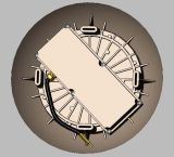 IP65 CCT preestableció el tabique hermético estupendo fundido a troquel exterior Emergency del oro impermeable LED de 24W 13.75inches