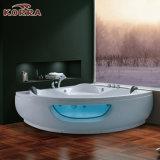 Massagem banheira de canto com luz LED de bolha certificados CE/Saso/UL (K-1065)