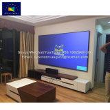 Xy экраны 130 дюйма Edgeless неприятия окружающего освещения неподвижной рамкой экрана проектора с 12мм алюминиевая рама