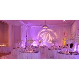Capa do tubo de equipamentos para a fase de casamento festa como pano de fundo a cerimônia de bricolage
