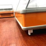 새로운 디자인 수직 결합된 다중 갑판 냉장고 야채 진열장