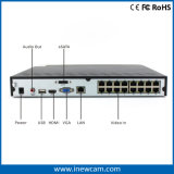 4MP 16CH Poe NVRネットワークビデオボイスレコーダOnvif