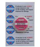 Het Etiket van het Document van de Logistiek van de Schokbreker