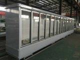 Hypermatket Usado Geladeira Comercial Porta de vidro vertical frigorífico e congelador