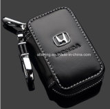 Honda Preto de couro Premium chave do carro porta-moedas correntes Zipper caso