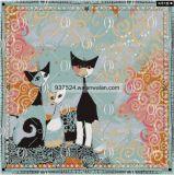 軽い正方形によって印刷される女性絹の首スカーフ