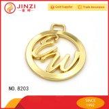 Modifica rotonda di marchio di marca del metallo dell'OEM di buona qualità per gli accessori dei sacchetti di cuoio